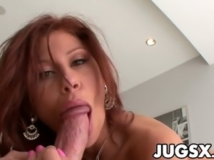 Big breasted Brooklyn Lee gets banged