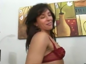 MILF, small tits and creampie.