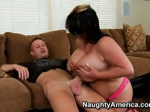 Indianna Jaymes with bubbly ass getting satisfaction with hard dicked guy...