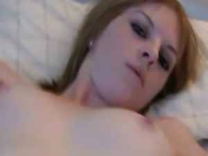 Young Blonde Teen Fingers Her Tight Pussy
