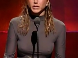 Jennifer Aniston With Hard Nipples