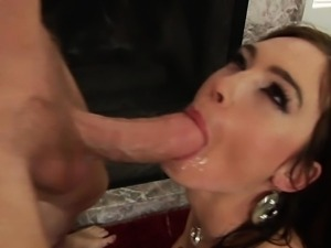 Doggystyle loving brunette gets fucked roughly