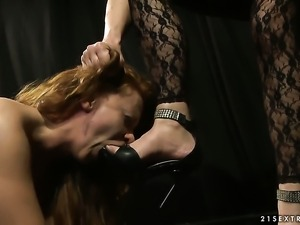 Mature Katy Parker with huge boobs takes Alice King s fingers in her twat