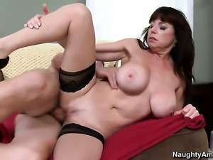 Tim Cannon plays with nasty Karen Kougars vagina before he fills her hole...
