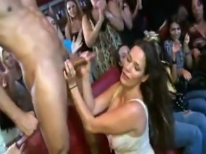 Tipsy and Smut ladies taking the stripper's penis
