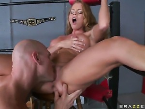 Johnny Sins attacks unthinkably sexy Nikki DelanoS mouth with his love torpedo