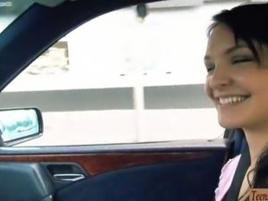 Amateur Belle Claire banged in the car
