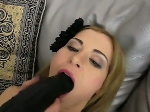 Naughty and horny slut Suzanna Scott gets her gentle holes stretched hard...