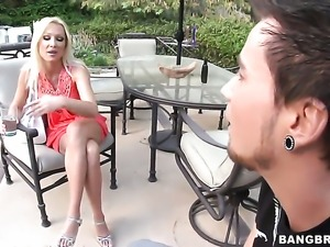 Dianna Doll warms man up with her hands and takes his rod