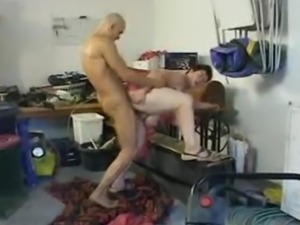 BBW Lora gets drilled in the Garage by the gardener