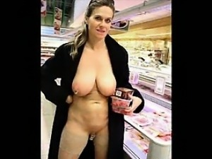Girls Flashing While Shopping
