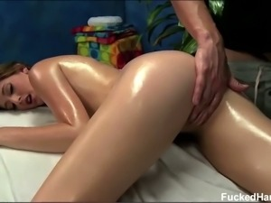 18 year old Casana Lei gets sensually massaged
