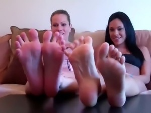 Compilation of sexy feet cock teasers