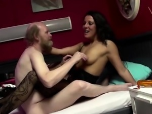 Euro whore gets cumshot from oldy