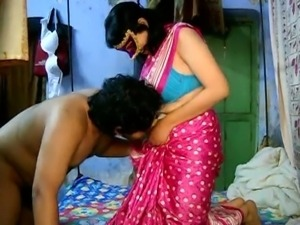 Indian Guy  plays with Savita's belly