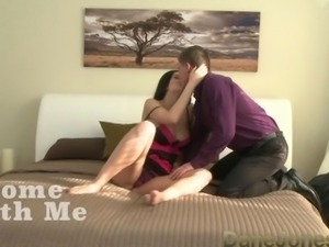 DaneJones Intense black haired babe enjoys multiple orgasms and a creampie in...