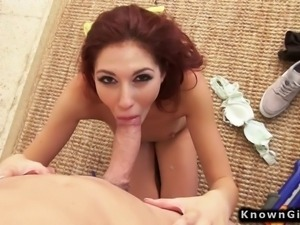 Redhead amateur girlfriend homemade sex POV