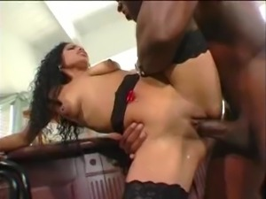 black sex with random interruption in between