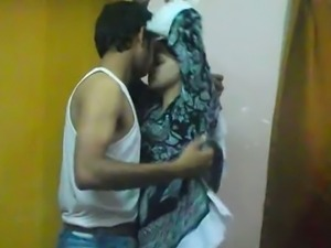 Indian couple prepping up for a long night sex