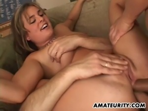 Naughty as hell ! This amateur girlfriend gets a double anal penetration with...