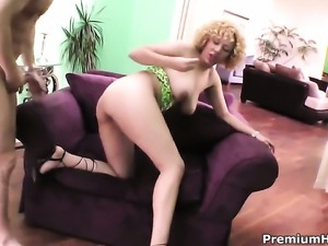 Incredibly sexy tramp Michelle Honey with massive tits gets impaled on...