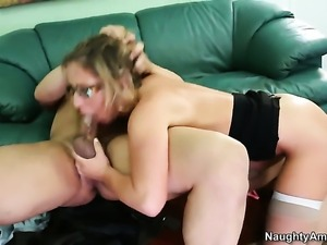 Anthony Rosano makes Sheena Shaw scream and shout with his stiff pole in her...