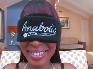 Ebony Star Mckenzie Sweet DPed While Blindfolded 420