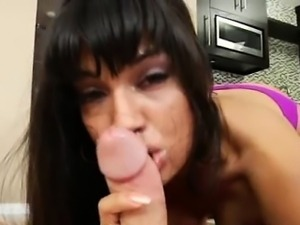 POV pornstar sucks like crazy