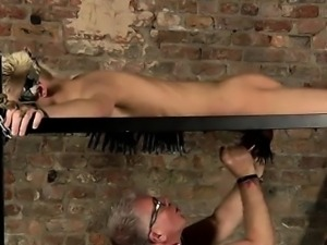Hot gay scene Master Kane has a fresh toy, a metal sofa fram
