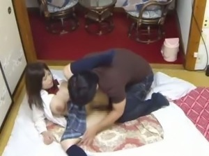 Busty Japanese Schoolgirl Gets Her Pussy Fucked.