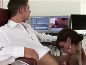 Lady Sonia gives handjob and blowjob