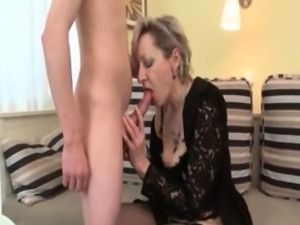 Horny blonde mature woman goes crazy part2