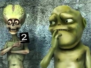 Hot 3D cartoon blonde babe gets fucked by an alien