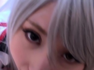 Cosplay Angel Kanade Tachibana is spoiling cock in POV