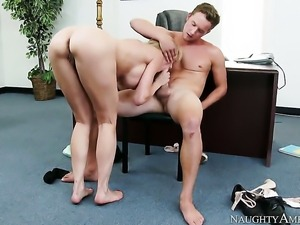 Asian Brandi Love loves Van Wyldes hard rod thrusting back and forth in the...
