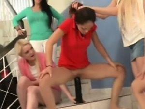 College lesbian freshwoman is flexible