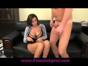 FemaleAgent Big boobed MILF results in thick ropes of cum free