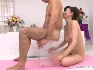 she will wash him and take care of him