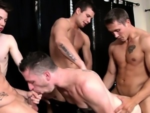 Hardcore gay orgy with Hayden Richards