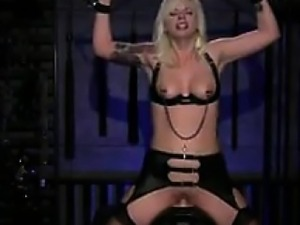 Blonde Slave On A Sybian
