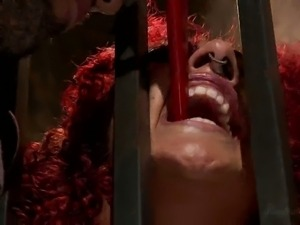 Redhead slave gets banged hard by her slave