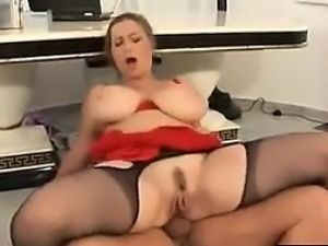 Busty Blonde MILF With A Hairy Pussy