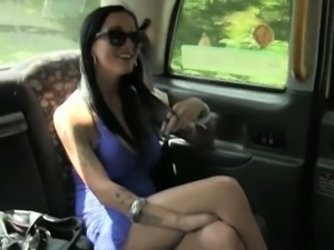 Slutty chick fucked with pervert driver for the second time
