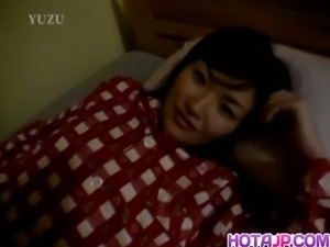 Sleeping mom Aika Anzai woken up for sex