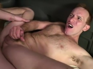 Real straight muscle hunk blows his load