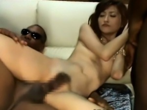 Skinny Japanese Gangbanged by Blacks!