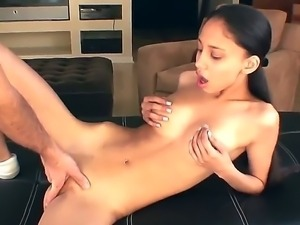 Alexis Love is one skinny dark haired sexy hottie with small firm ass and...