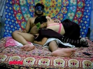 masked indian sucks on a stiff cock