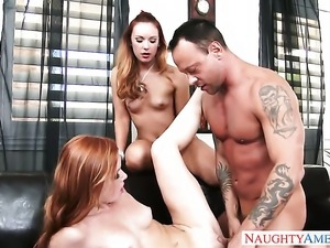 Kurt Lockwood makes his rock solid cock disappear in beautiful Dani Jensens hole