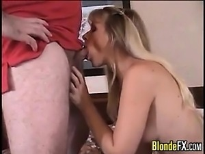 Blonde MILF Fucked By A Horny Fat Guy